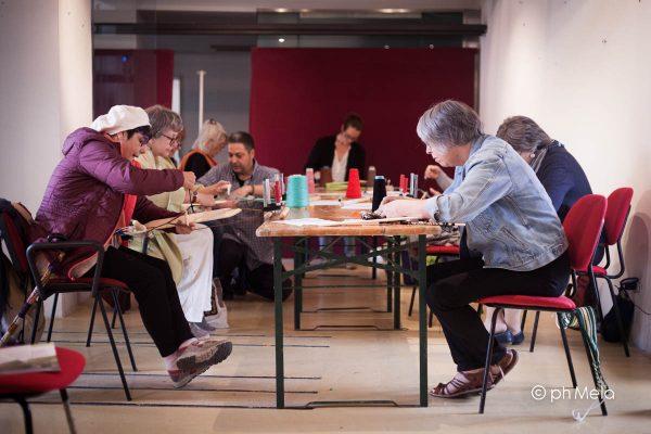 Tessitura a tensione - foto Silvia Mela D'Orazi