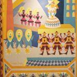 Mosaici cuciti e stoffe futuriste
